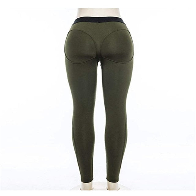FLYMALL Black Heart Shape Booty Sport Pants Women