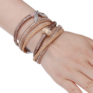 ALLYES Braided Leather Bracelet