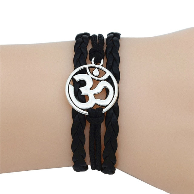 4 Colors OM Charm Meditate Yoga Bracelets