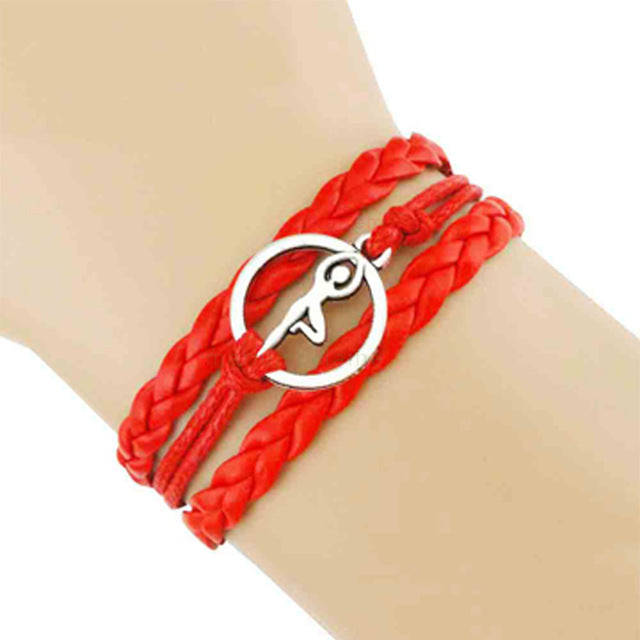 Yoga Girl Meditation Bracelet - Red