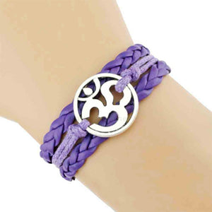 Yoga Girl Meditation Bracelet - Purple