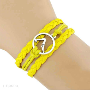Yoga Girl Meditation Bracelet - Yellow