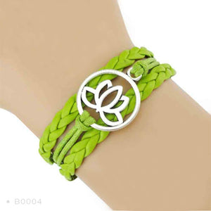 Yoga Girl Meditation Bracelet - Green