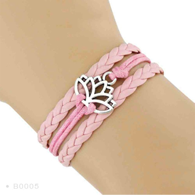 Yoga Girl Meditation Bracelet - Pink