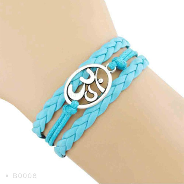 Yoga Girl Meditation Bracelet - Aqua