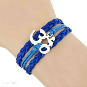 Yoga Girl Meditation Bracelet - Blue