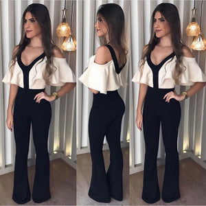 2018 New Arrival Autumn V-neck Jumpsuits