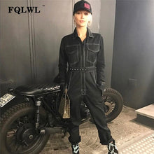 Load image into Gallery viewer, FQLWL Sexy Denim Jumpsuit For Women