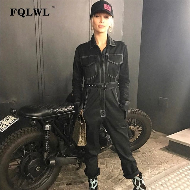 FQLWL Sexy Denim Jumpsuit For Women
