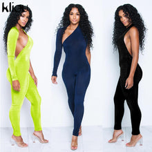 Load image into Gallery viewer, Kliou women sexy jumpsuits 2018