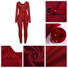 Load image into Gallery viewer, Adogirl Solid Off Shoulder Ribbed Jumpsuit  Women Sexy