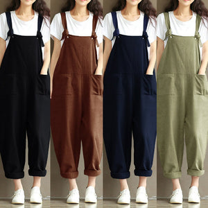 Summer Rompers Womens Jumpsuits Vintage Plus Size