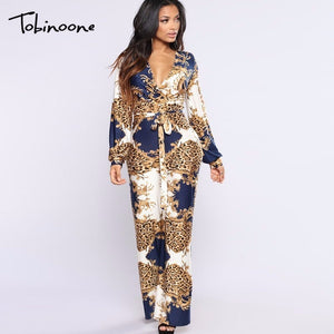 Tobinoone 2018 New Arrival Sexy Bodycon Woman Jumpsuit
