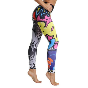 Vertvie Letter Printed Women Sport Leggings
