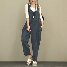 Load image into Gallery viewer, EaseHut Retro Cotton Linen Rompers Womens Jumpsuits 2019