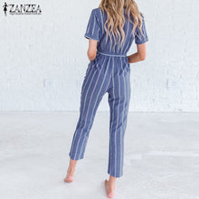 Load image into Gallery viewer, ZANZEA Women Casual Rompers  Striped Jumpsuits