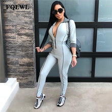 Load image into Gallery viewer, FQLWL Streetwear Bodycon Sexy Jumpsuit For Women