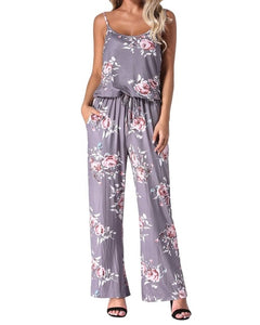 Summer Floral Print Rompers Jumpsuits Women