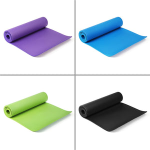 10MM NBR Non-slip Yoga Mats For Fitness Tasteless 4Color 2 Size