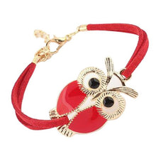 Load image into Gallery viewer, Owl Decoration Faux Leather Bracelets
