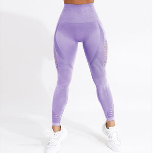 CHRLEISURE Women High Waist Push Up Leggings Hollow Fitness Leggins Workout Legging For Women Casual Jeggings 4Color
