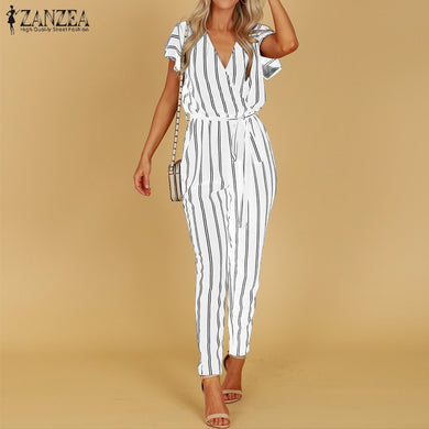 ZANZEA 2019 Striped Jumpsuit Women