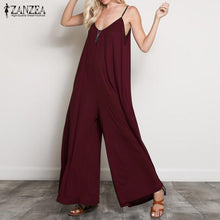 Load image into Gallery viewer, ZANZEA Summer Women Sexy V Neck Long Jumpsuits