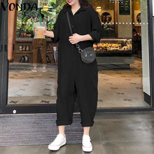 Load image into Gallery viewer, VONDA Plus Size  Pants 2019 Jumpsuits Women