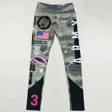 Load image into Gallery viewer, Women Letter Army Yoga Pants 3D Printed High Waist Sports