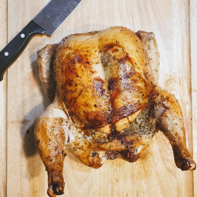 Roasted Whole Pasture Raised Chicken