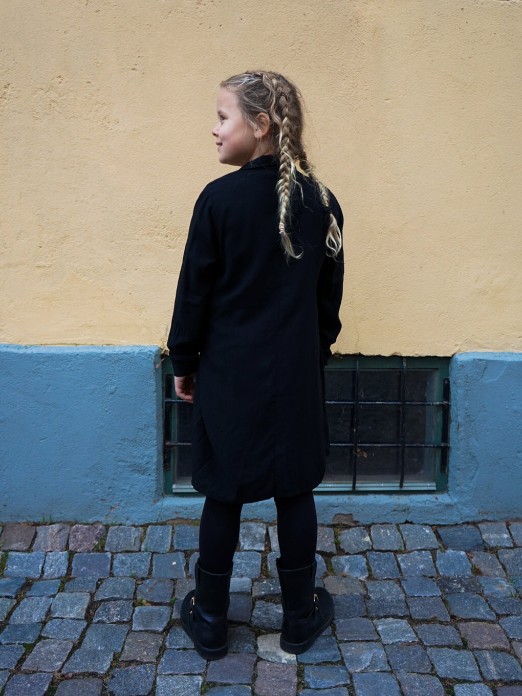 Kids' Wrap Knot Dress - Espresso Black
