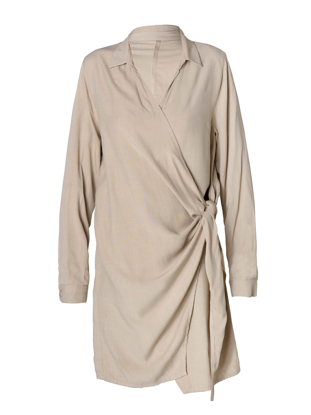 Women's Wrap Knot Dress - Cafe con Leche