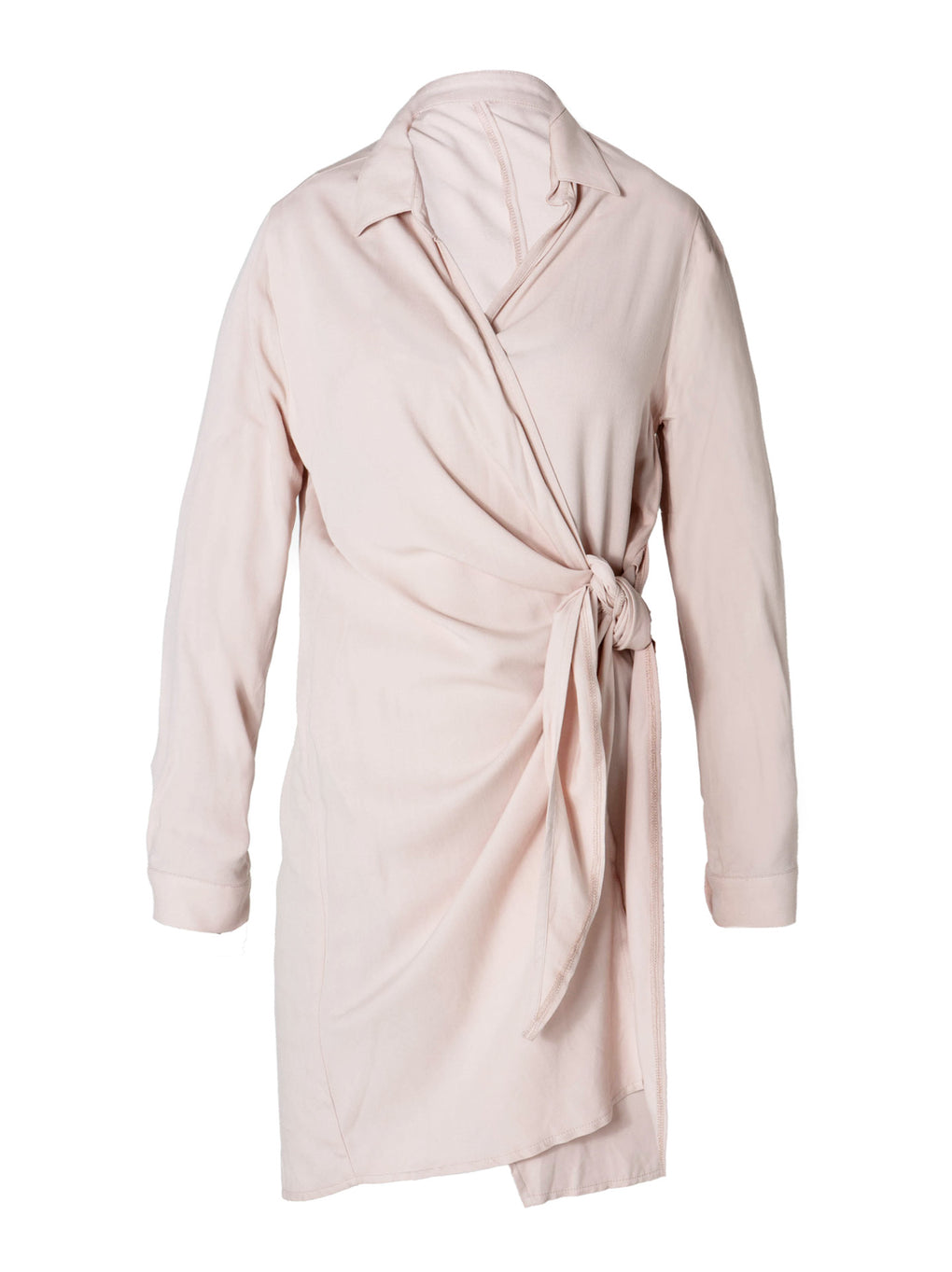 Women's Wrap Knot Dress - Strawberry Pink