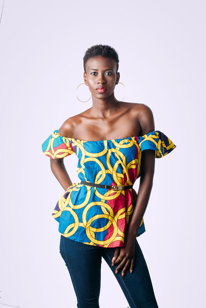 Multi-Colored Ghanaia Top