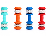 Rubber Dog Toy Molar Tooth Dumbbell Dental Bite Resistant Tooth Cleaning with 4 Colors - Pet Shop Boys and Girls