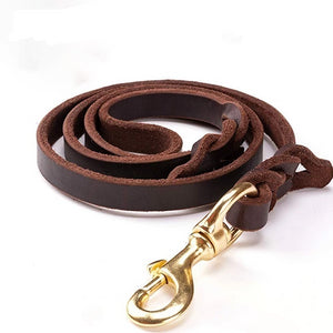 High-end Cowhide Leather Leash - Pet Shop Boys and Girls