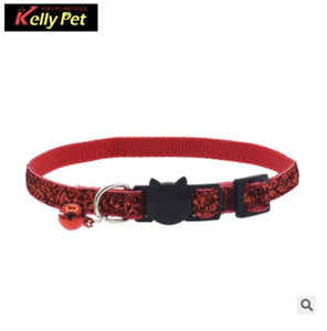 Bling Sequins Breakaway Cat Collar & Tag - Pet Shop Boys and Girls