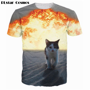 Cat Explosion T-Shirt - Pet Shop Boys and Girls