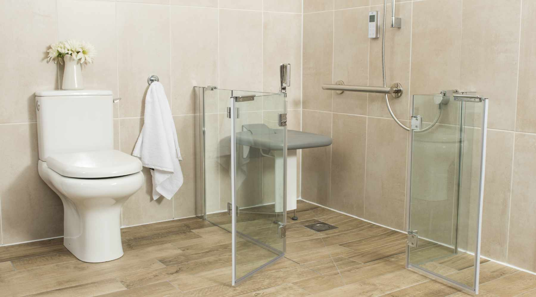 shower screen for the disabled