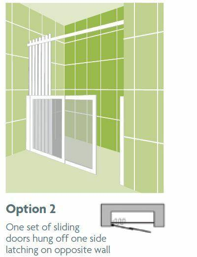 Impey Option 2 750mm High Shower Screens - Adaptation Supplies Ltd