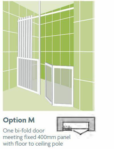 Impey Option M 750mm High Shower Screens - Adaptation Supplies Ltd