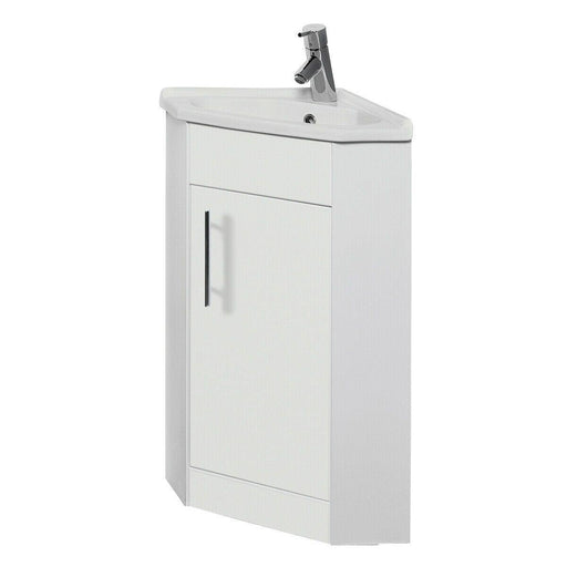 Bathroom corner cabinet with basin