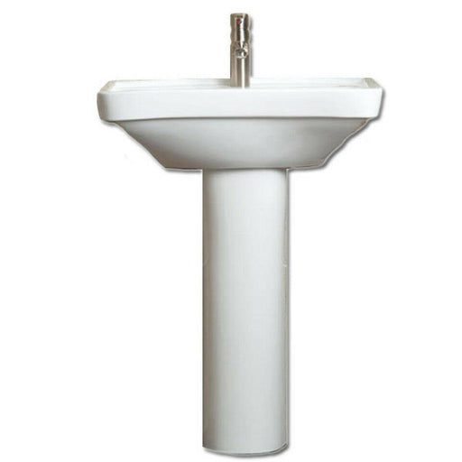 AKW Livensa Wash Basin with Full Pedestal Ergonoic Concave Design - Adaptation Supplies Ltd