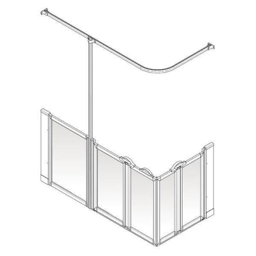 ALL SIZES AKW Option XW 750mm High Shower Screens - Adaptation Supplies Ltd