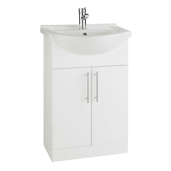 Bathroom cabinet with basin