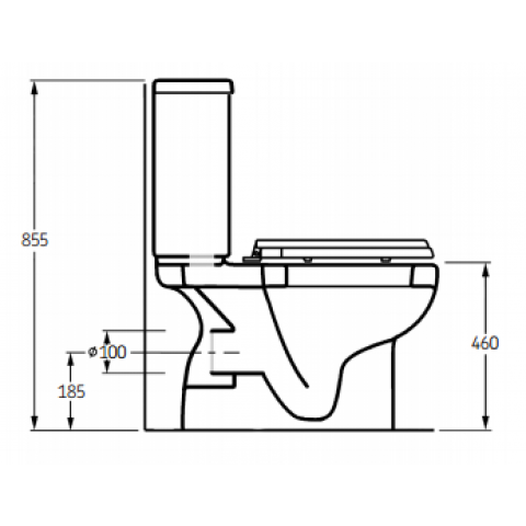 Freelux Toilet Pack 650mm Projection