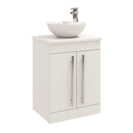 Purity 600mm Floor Standing 2 Door Unit with Ceramic Worktop & Sit On Bowl