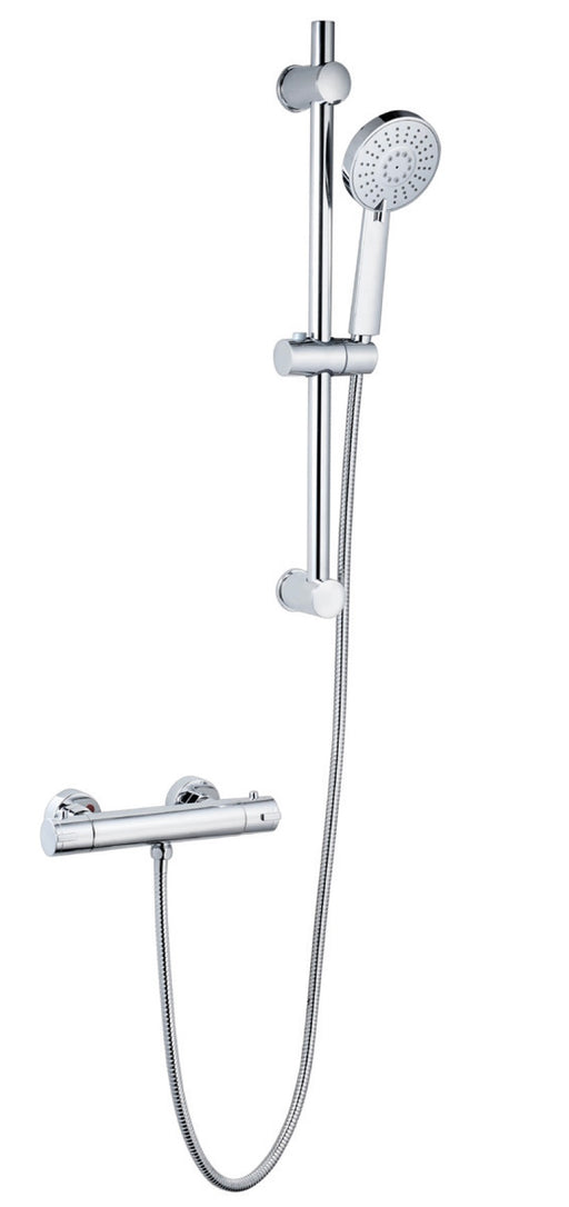 Plan Option 6 Thermostatic Exposed Bar Shower with Adjustable Slide Rail Kit