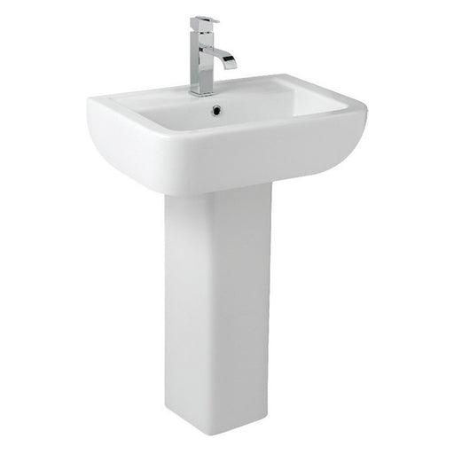 Options 600 550mm 1 Tap Hole Basin with Pedestal