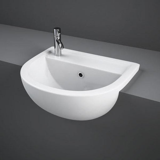 Compact 450mm Semi-Recessed Basin